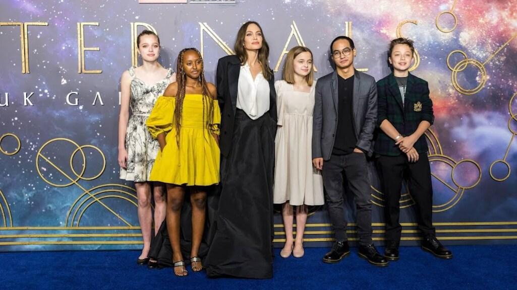 Rode loper is fractie van leven gezin Angelina Jolie