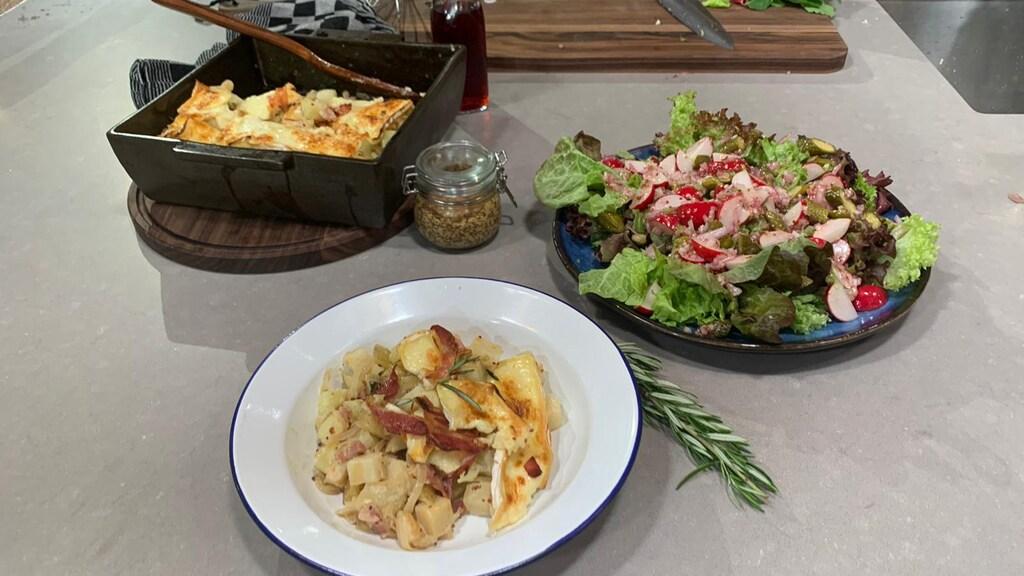 Easy Monday: een herfstige aardappelschotel met een frisse salade